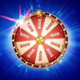 Fortune Wheel Poster Vector. Spinning Lucky Roulette. Prize Concept Background. Casino Club Illustration vector illustration