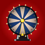 Wheel of Fortune - realistic vector modern image. Wheel of Fortune - realistic modern vector image. Red background. Use this quality clip art elements for your royalty free illustration