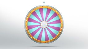 Wheel fortune with 24 space. The wheel of fortune or Lucky spin animation was created by Three Dimensional. Video is included the alpha channel and motion loop Royalty Free Illustration