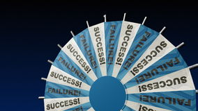 WHEEL OF FORTUNE SUCCESS WITH FIREWORKS Royalty Free Stock Photos