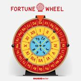 Wheel of Fortune template Royalty Free Stock Images