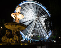 Wheel and fountain in Budapest Royalty Free Stock Image