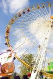 Wheel funfair. Big wheel colored in a funfair at paris Stock Photo