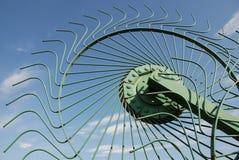 Wheel of Hay Rake Stock Photo