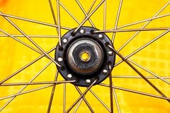 Wheel hub as a star Stock Photography