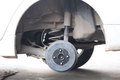 Wheel hub of a car in repair of the damage. Royalty Free Stock Images