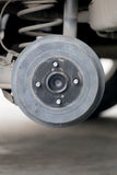 Wheel hub of a car in repair of the damage. Royalty Free Stock Photos