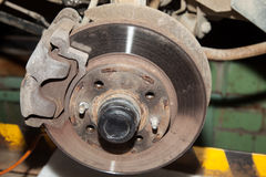Wheel hub motor car Stock Photography