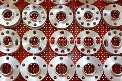 Wheel Hubs. In Various Shapes and Sizes royalty free stock photography