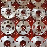 Wheels Hubs. Wheel Hubs in Various Sizes and Shapes stock photo
