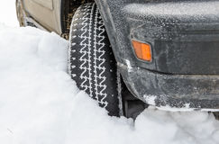 Free Wheel In Deep Winter Snow Snowbank Royalty Free Stock Photography - 36946397