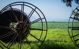 Wheel of Irrigation Pipe Royalty Free Stock Image