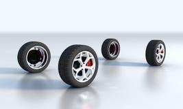 Wheel isolated on white Stock Photo
