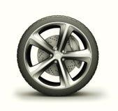 Wheel isolated on white vector illustration