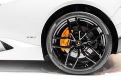 Wheel of Lamborghini Royalty Free Stock Photo