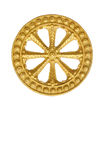 Wheel of law, Dharma , clipping path included. Stock Image