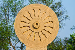 The Wheel of the Law- Tham-ma-jak Stock Photography