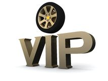 Wheel and letters vip Royalty Free Stock Image