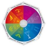 Gardner`s Multiple Intelligences Theory Diagram, a Coaching and Psychology Tool - German Language