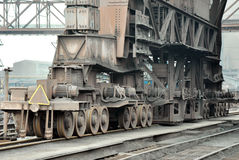 Wheel ligament on the rails Royalty Free Stock Photos