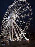 Wheel of Liverpool-night time- The structure is 196 feet 60 m tall, weighs 365 tonnes and has 42 fully enclosed capsules attache. The Wheel of Liverpool is a royalty free stock image