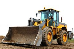 Wheel loader Royalty Free Stock Images