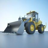 Wheel loader. 3D visualization models of wheel loader Stock Illustration
