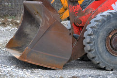 Wheel loader. Big wheel loader seen from side Royalty Free Stock Photos