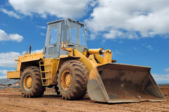 Wheel loader bulldozer Royalty Free Stock Photos