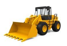 Wheel Loader Bulldozer. On white background. 3D render Stock Images
