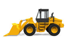 Wheel Loader Bulldozer. On white background. 3D render Royalty Free Stock Photos