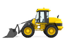 Wheel Loader Bulldozer. On white background. 3D render Stock Photography