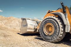 Wheel loader on a construction site Royalty Free Stock Image