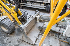 Wheel loader on a construction site Royalty Free Stock Photos