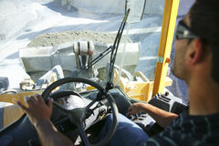 Wheel loader driver Royalty Free Stock Photo