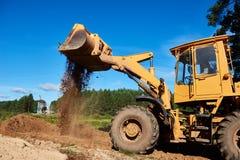 Wheel loader excavator earthmoving Stock Image