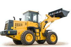 Wheel loader excavator isolated Stock Images