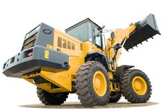 Wheel loader excavator isolated Royalty Free Stock Image