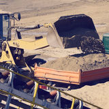 Wheel loader excavator machine Royalty Free Stock Photo