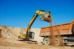 Wheel loader excavator and tipper dumper Royalty Free Stock Image
