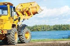 Wheel loader excavator at work Royalty Free Stock Photos