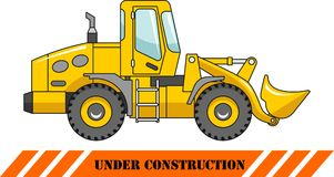 Wheel loader. Heavy construction machine. Vector Royalty Free Stock Photos
