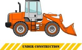 Wheel loader. Heavy construction machine. Vector illustration Stock Photos