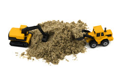 Wheel loader and hydraulic excavator Stock Images