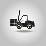 Wheel loader icon. Truck icon Stock Image