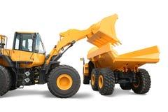 Wheel loader loading dumper
