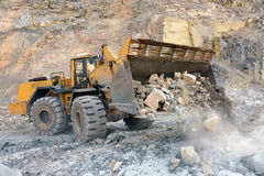 Wheel loader machine Stock Photography