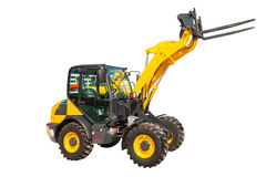 Wheel loader machinery construction equipment isolated Royalty Free Stock Photography