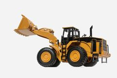 Wheel loader model isolated background royalty free stock images