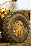 Wheel loader road stock photos